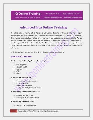 Advanced Object-Oriented Programming in Java online