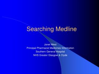 Searching Medline