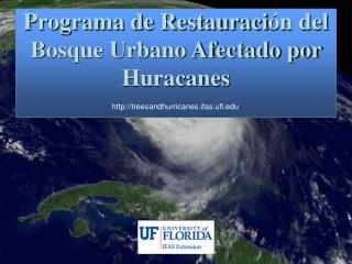 Programa de Restauraci n del Bosque Urbano Afectado por Huracanes