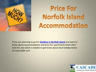 Holidays to Norfolk Island