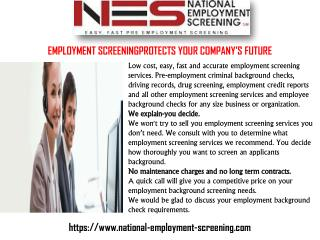 Employment Verification Service Provider
