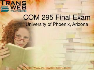 COM 295 Final Exam | COM 295 Week 5 Final Exam | Transweb E Tutors