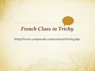 French Class in Trichy