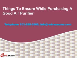Things To Ensure While Purchasing A Good Air Purifier