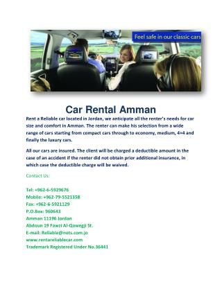 Car Rental Amman