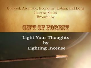Aromatic, Colored, Long and Loban Natural Incense Sticks by Gift of Forest