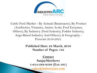 Cattle feed market