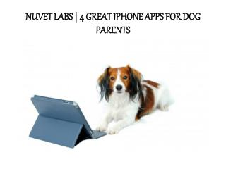 Nuvet Labs | 4 Great Iphone Apps For Dog Parents