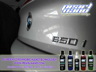 The Super Hydrophobic Nanotechnology Product in Pearl Nano.