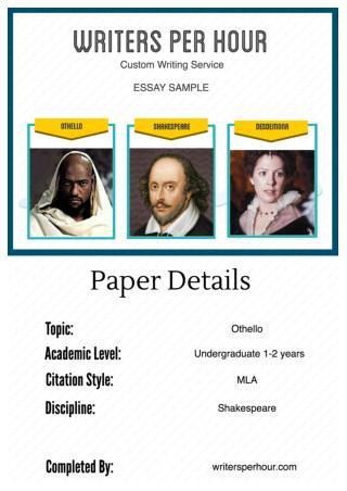 Sample Essay on Othello