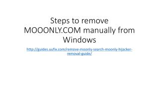 Steps to remove MOOONLY.COM manually from Windows