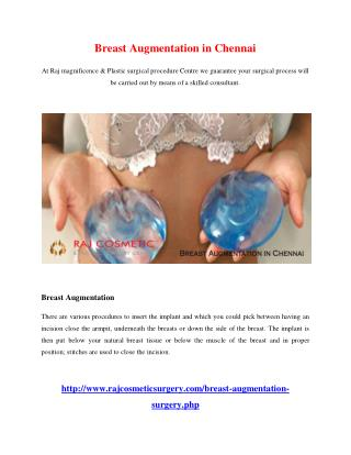 Breast Augmentation in Chennai