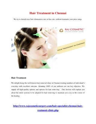 Hair Treatment in chennai