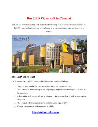 Buy LED Video wall in Chennai
