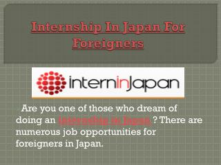 Internship South East Asia