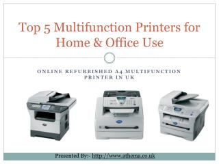 Top 5 Refurbished Multifunction Printers for Home Use in UK