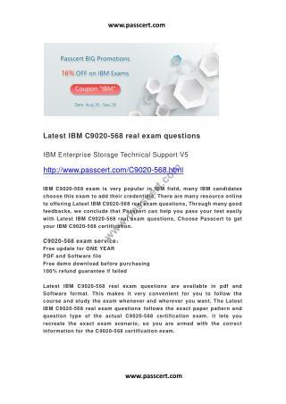 IBM C9020-568 real exam questions