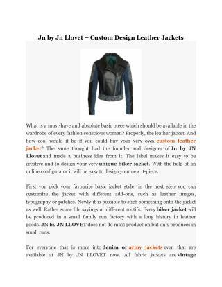 Custom Design Leather Jackets
