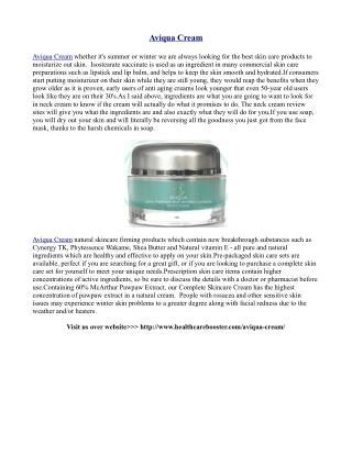 http://www.healthcarebooster.com/aviqua-cream/