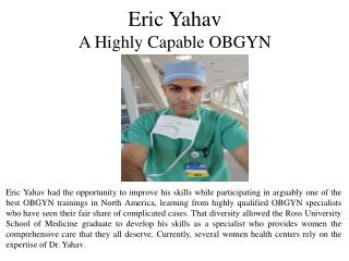 Eric Yahav - A Highly Capable OBGYN