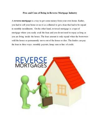 Advantages And Disadvantages Of Reverse Mortgage In Los Angeles