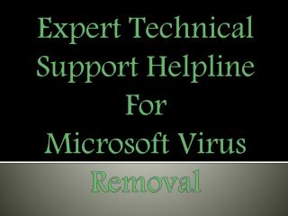 Expert Online Support For Microsoft Virus Removal