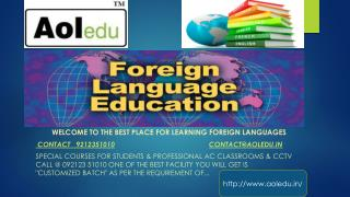Best foreign languages institute in delhi