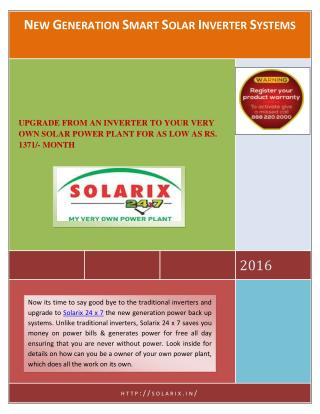 NEW GENERATION SMART SOLAR INVERTER SYSTEMS
