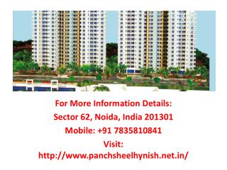 Panchsheel Hynish is praiseworthy new developed residential