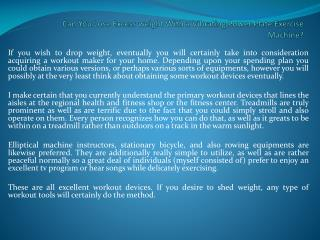 Can You Lose Excess weight With a Vibrating