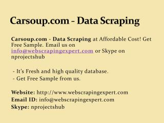Carsoup.com - Data Scraping