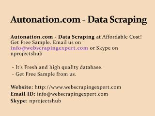 Autonation.com - Data Scraping
