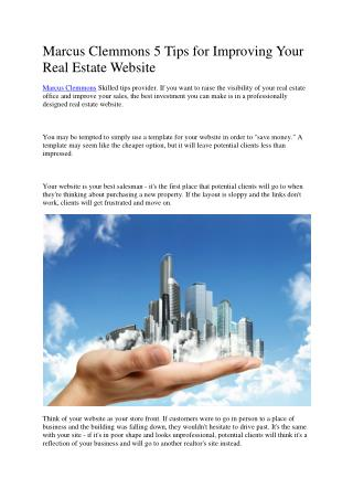 Marcus Clemmons 5 Tips for Improving Your Real Estate Website.pdf