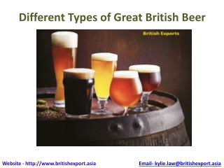 Different types og great british beer