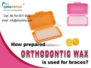 How prepared orthodontic wax is used for braces