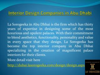 Interior Design Companies in Abu Dhabi