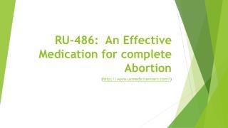 RU-486: An Effective Medication for Complete Abortion | Usmedicinemart.com