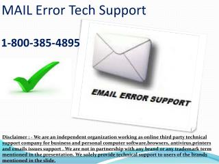 1-8OO 385-4895. AOL Mail Problems Customer Support Phone Number