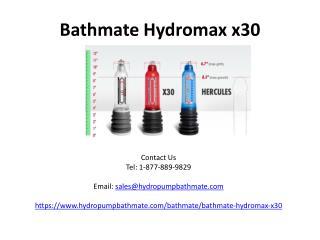 bathmate hydromax x30