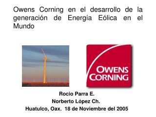 Owens Corning en el desarrollo de la generaci n de Energ a E lica en el Mundo