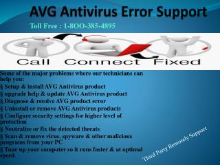 1-8OO-385-4895 AVG Antivirus Issue Help & Support Phone Number