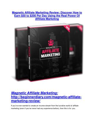 Magnetic Affiliate Marketing review and sneak peek demo
