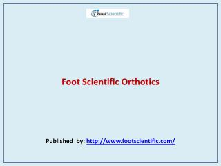 Foot Scientific Orthotics