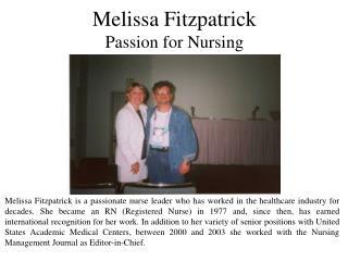 Melissa Fitzpatrick - Passion for Nursing