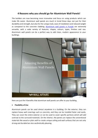 Aluminium panels in Ludhiana