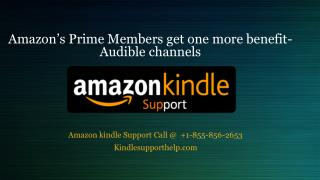 Amazon's Prime Members get one more benefit-Audible channels