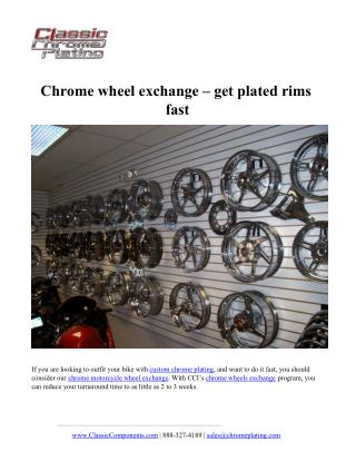 Chrome wheel exchange – get plated rims fast