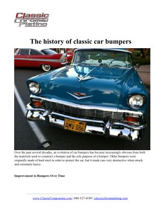 The history of classic car bumpers
