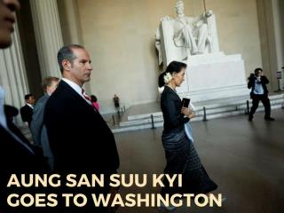 Aung San Suu Kyi goes to Washington