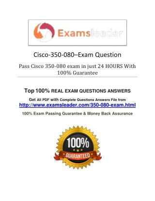 350-080 Exam Question